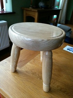 Milking Stool. Beech from Gayle Mill